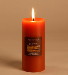 Hosley Rustic Sandalwood Highly Scented Pillar Candle