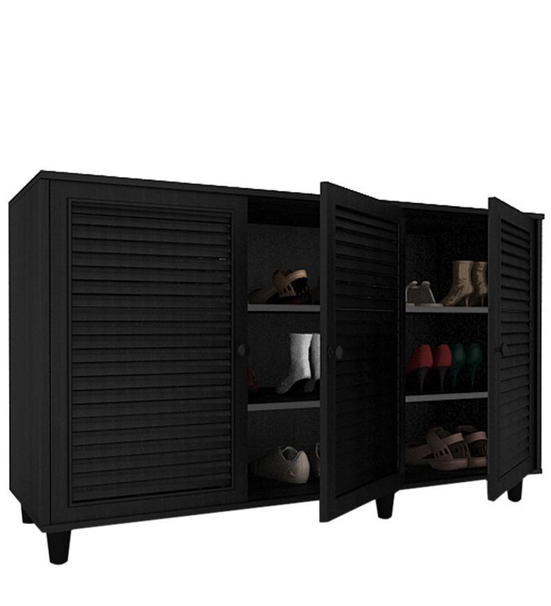 Eon 3D Shoe Cabinet in Black Oak by Housefull by Housefull