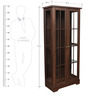Holly Bookcase in Walnut Colour by HomeTown