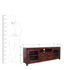 Holly Solidwood Entertainment Unit in Brown Colour by HomeTown