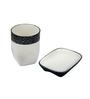 Home Belle Blue Ceramic Bathroom Accessories - Set of 4