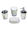 Home Belle Green ABS Plastic Bathroom Accessories - Set of 6