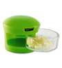 Home Belle Green ABS Plastic Garlic Chopper with 2 Different Blades