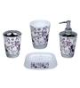 Home Belle Purple ABS Plastic Bathroom Accessories - Set of 6
