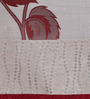 Home Creation Red & Beige Polyester 84 x 48 Inch Solid Door Curtain - Set of 2
