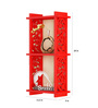 Home Sparkle Red Engineered Wood 2 Pocket Carved Wall Shelf