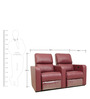Home Theater Two Seater Automatic Recliner in Maroon Colour by Star India