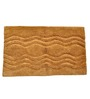 Homefurry Beige Hexa Wave 20 X 32 Inch Cotton Bath Mat