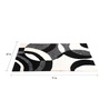 Homefurry Black & White Polyester 71 x 47 Inch Pazio Area Rug