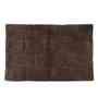 Homefurry Coffee Brown Glossy Bricks 20 X 32 Inch Cotton Bath Mat