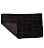 Homefurry Coffee Brown Jigjag 20 X 32 Inch Cotton Bath Mat