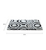 HomeFurry Black And White Polyester 60 x 36 Inch Area Rug