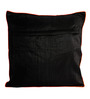 Homestop White Cotton & Polyester 16 x 16 Inch Ivy Cushion Cover
