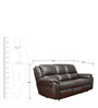Alexander Half Leather Three Seater Recliner by HomeTown
