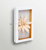 HomeTown Cream Feather Daisy Home Accent Wall Hanging