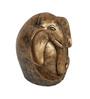 HomeTown Gold Polyresin Grace Oval Ganesh Idol