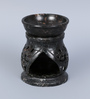 Hosley Brown Soapstone Tealight Oil Warmer