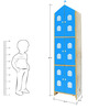House Kids Large-Size Wardrobe in Blue Colour by KuriousKid