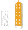 House Kids Large-Size Wardrobe in Orange Colour by KuriousKid