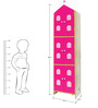 House Kids Large-Size Wardrobe in Pink Colour by KuriousKid