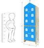 House Kids Medium-Size Wardrobe in Blue Colour by KuriousKid