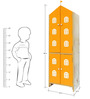 House Kids Medium-Size Wardrobe in Orange Colour by KuriousKid