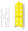 House Kids Medium-Size Wardrobe in Yellow Colour by KuriousKid