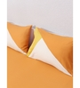 House This Orange 100% Cotton Queen Size Bedsheet - Set of 3