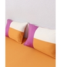 House This Orange 100% Cotton Single Size Bedsheet - Set of 2