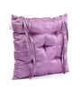 House This Violet Polyester 16 x 16 Inch Solid Chair Pad