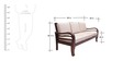 Hughes Teak Wood Sofa Set (3 + 1 + 1) Seater in Fresh Walnut Finish by Finesse