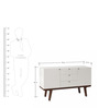Hudson Mid Century Entertainment Unit in Brown & White Colour by Asian Arts