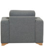 Iganzio One Seater Sofa in Platinum Grey Colour by Casacraft