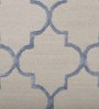 Imperial Knots Blue & Beige Wool Viscose 96 x 60 Inch Carpet