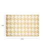 Imperial Knots Gold Ivory Woolen Houndstooth Handwoven Flatweave Rug
