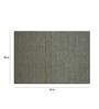Imperial Knots Gray Woolen Solid Rectangular Hand Woven Rug