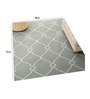 Imperial Knots Grey & Ivory Wool 48 x 72 Inch Carpet