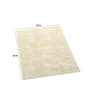 Imperial Knots Ivory Polyester 36 x 29 Inch Carpet