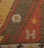 Imperial Knots Multicolour Wool 72 x 48 Inch Handwoven Vintage Dhurrie