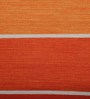 Imperial Knots Orange Cotton 72 x 48 Inch Rug