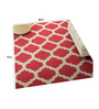 Imperial Knots Red & Ivory Wool 72 x 48 Inch Carpet