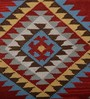 Imperial Knots Red Wool 96 x 60 Inch Dhurrie