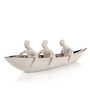 Importwala  - Ceramic Men In Boat
