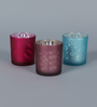 Importwala Frost Flicking Votive Set - Set of 3