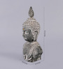Importwala Grey Polyresin Buddha Head with Feather