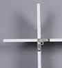 Importwala White Wood Plastic Composite Cutwork Wall Shelf