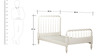 Indian Heritage Theme Single-Size Bed in Ivory Finish by Pink Guppy