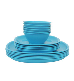 Incrizma Square 18 Pc Dinner Set -TURQUOISE