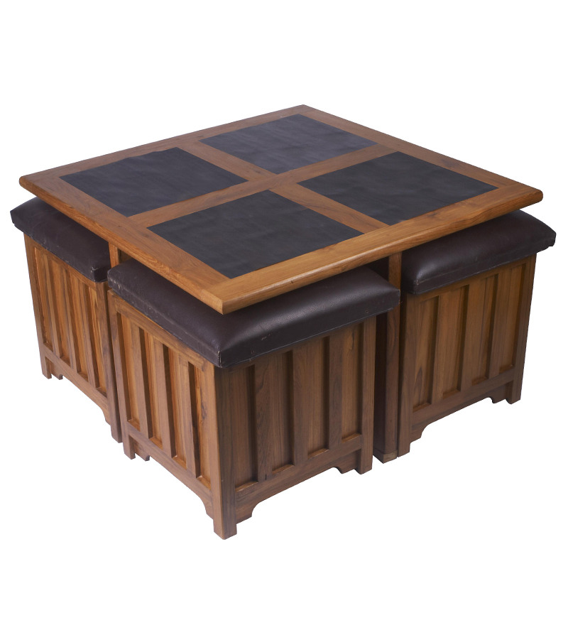 Indian Roots Coffee Table With Storage Stools Best Deals With Price Comparison Online Shopping