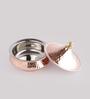 Indian Art Villa Steel & Copper 525 ML Handi with Lid